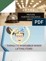 Providing Porter Service