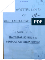 Material Science & Production Engineering