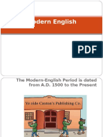 Lecture 9 - MODERN ENGLISH