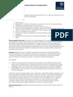 Interview Format and Practical Arrangements