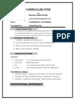 Curriculum Vitae Prakash Kumar Pandey
