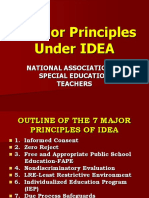 Major Principles Under IDEA