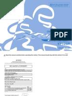 YP 125 R Owner's Manual - En