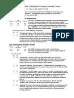 Diagnostic Checklist