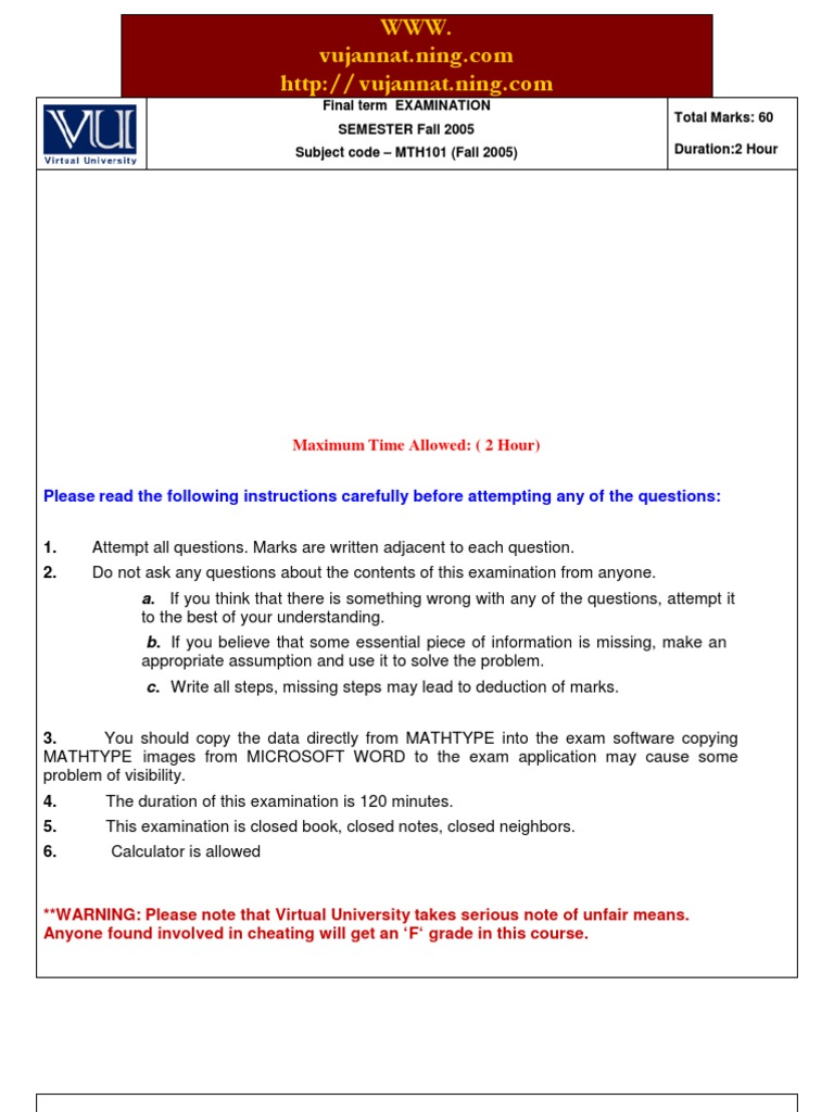 mth101 final term paper 2014