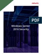 Windows Server 2016 Security