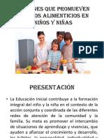 Acciones Que Promueven Hábitos Alimenticios en Niños y Niñas