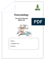 Enzymology BIOC231