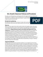 classroom policies novak 5th grade 2019-2020