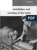 The Installation and Leveling of the Lathe