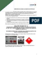 Boletin Técnico Nº 13 - Gas Licuado de Petroleo - Recomendaciones Para Choferes