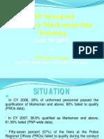 PNP STANDARD HANDGUN MARKSMANSHIP TRAINING