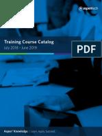 Aspentech Course Catalog Fy18