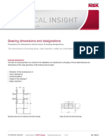 NSK - Bearing dimensions and designations