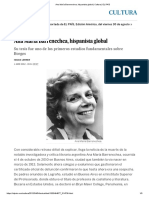 Ana María Barrenechea, Hispanista Global _ Cultura _ EL PAÍS