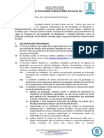 EDITAL (Mestrado Em Bioquimica e Biologia Molecular_INBIO) n 9, De 29-08-2019.