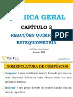 Reacções Químicas e Estequiometria - Kátia Gabriel
