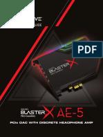 Sound BlasterX AE-5 Experience Guide