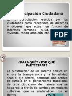 La Participación Ciudadana (Poder Popular)
