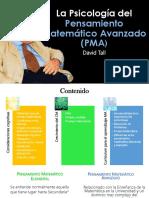 La psicología del pensamiento Matemático Avanzado (D. Tall)
