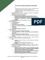 2 - Compliance Legal, Ética e Análise Do Perfil Do Investidor