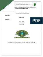2_internship Report on Pakarab Fertilizer Marketind Distribution - Copy