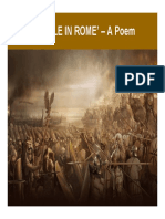 Battle in Rome - A Poem By Chew Wei Heng
