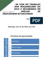 Estudos sobre QVT em professsores moçambicanos