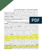 Modelo Acta Constitutiva y Estatutos Sociales