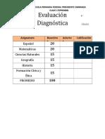 Diagnóstico 6to Grado