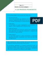 Inducción a Los Procesos Pedagogicos Act 1