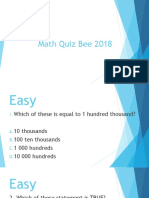Quiz bee Math 4
