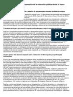 Documentos Encuentro Por La Recuperación de La Educación Pública Desde La Bases