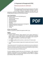 FPM Admission Process 2019