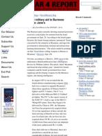 Israeli Military Aid to Burmese