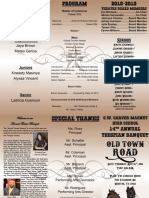 theatre banquet program 2019