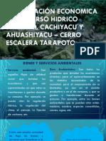 Valorización Económica Del Recurso Hidrico Shilcayo, Cachiyacu 2019