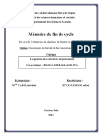 memoire gestion des carrieres