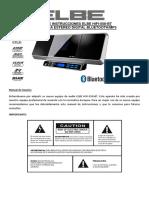 Manual Elbe Hifi 558 Bt Microcadena Estereo Digital Bluetooth Mp3