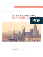 Interview Questions for Planning Engineers
