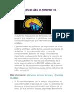 Información Esencial Sobre El Alzheimer y La Demencia