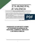Ordenanza IAE Mp. Valencia 281218