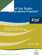 Stolen Generations Assessor Final Report