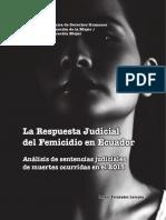 Libro La Respuesta Judicial del Femicidio en Ecuador Vol 1