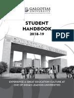 Student Handbook 2018 19