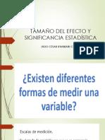 Tamaño Del Efecto y Significancia Estadística