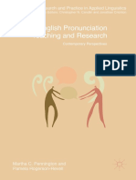 (Research and Practice in Applied Linguistics) Martha C. Pennington, Pamela Rogerson-Revell - English Pronunciation Teaching and Research_ Contemporary Perspectives-Palgrave Macmillan UK (2019)
