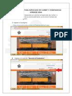 Procedimiento Para Duplicado de Carnet y Constancias Aprendiz Sena 2018