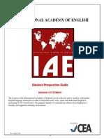IAE Student Prospective Guide San Diego