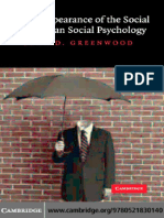 GREENWOOD, John D. The Disappearance of the Social in American Social Psychology.pdf